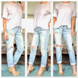 J Brand AIDAN Destroyed Boyfriend Jeans.  Size 30